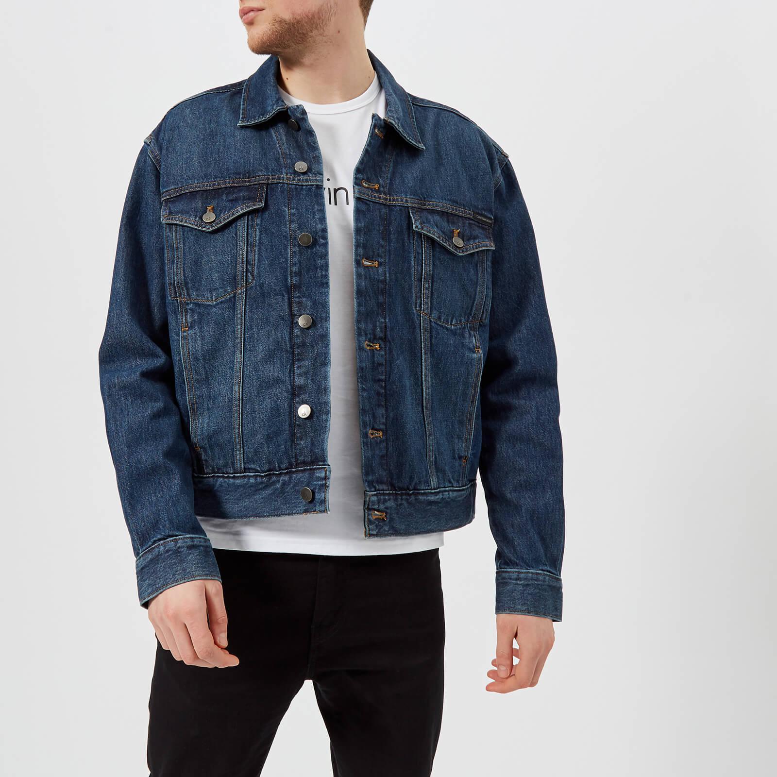 abb2d4ecf9 Calvin Klein Iconic Trucker Jacket in Blue for Men - Lyst