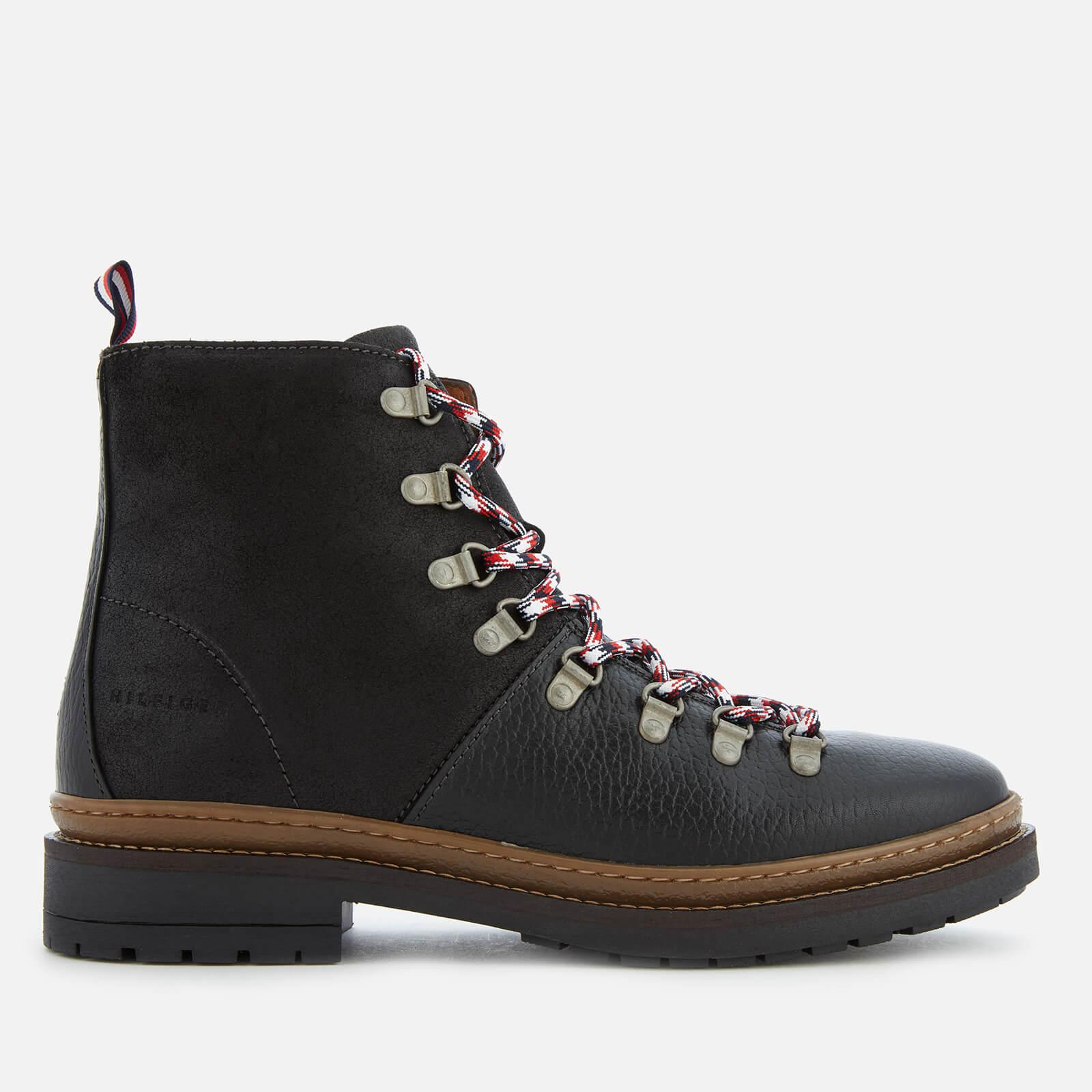 7ce901800f8df Tommy Hilfiger Elevated Outdoor Leather Hiking Boots in Black for ...