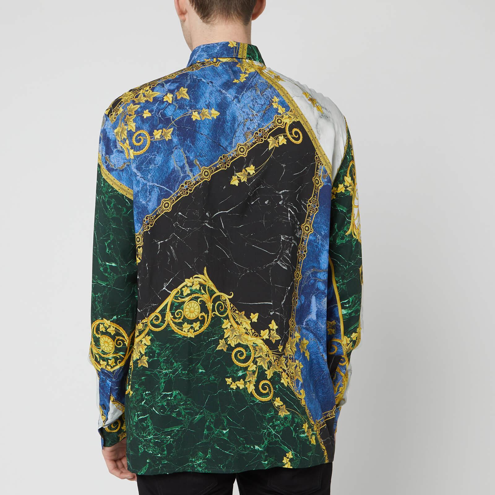 16f0d2f02 Versace - Blue Shirt for Men - Lyst. View fullscreen