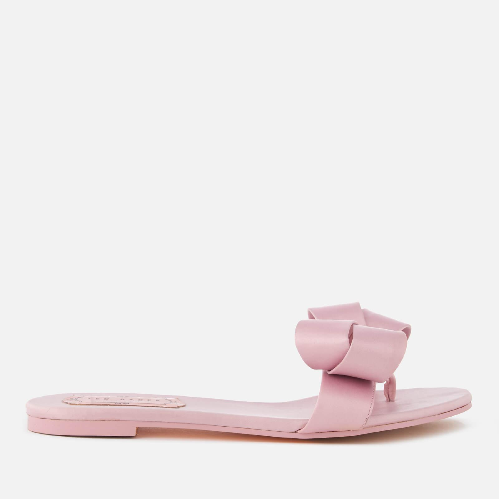 ab9a67b329f5 Lyst - Ted Baker Beauita Satin Bow Slide Sandals in Pink
