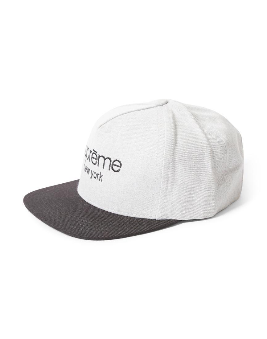 9aa7b7fdcbb38 Lyst - Supreme 2009 Classic Logo Tone Snapback Cap Grey   Black in ...