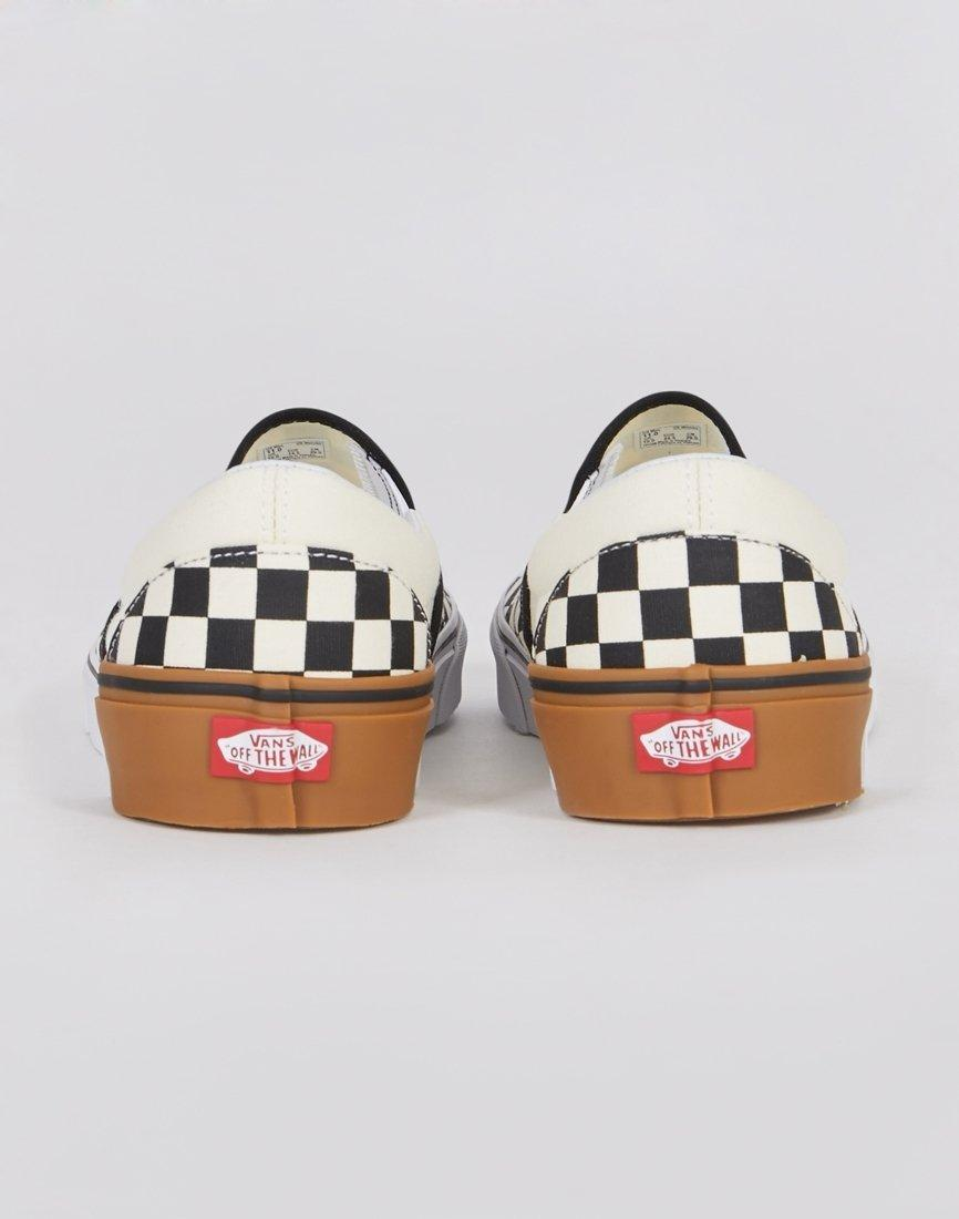 572669ff5e1 Vans Classic Slip On Plimsoll Black   White Checks With Gum Sole in White  for Men - Lyst