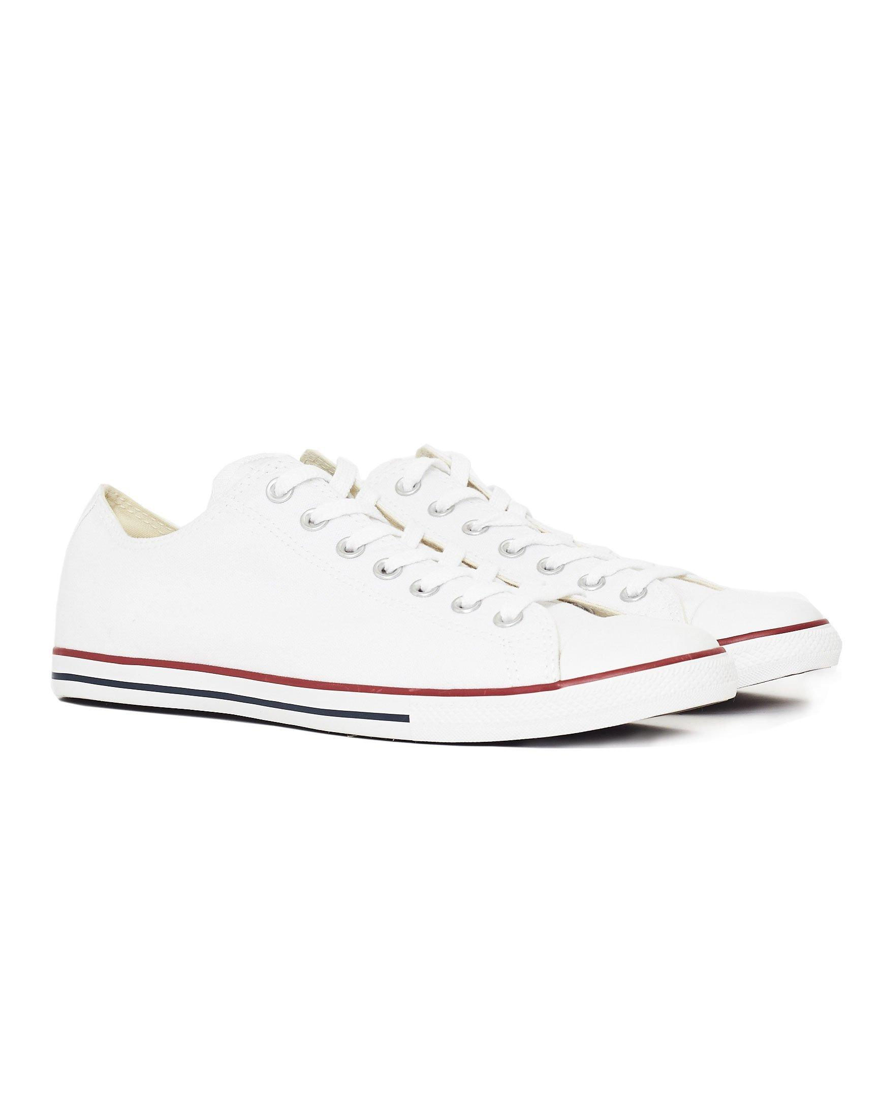 Lyst - Converse Chuck Taylor All Star Lean Plimsolls White in White ... fc6f6ace3