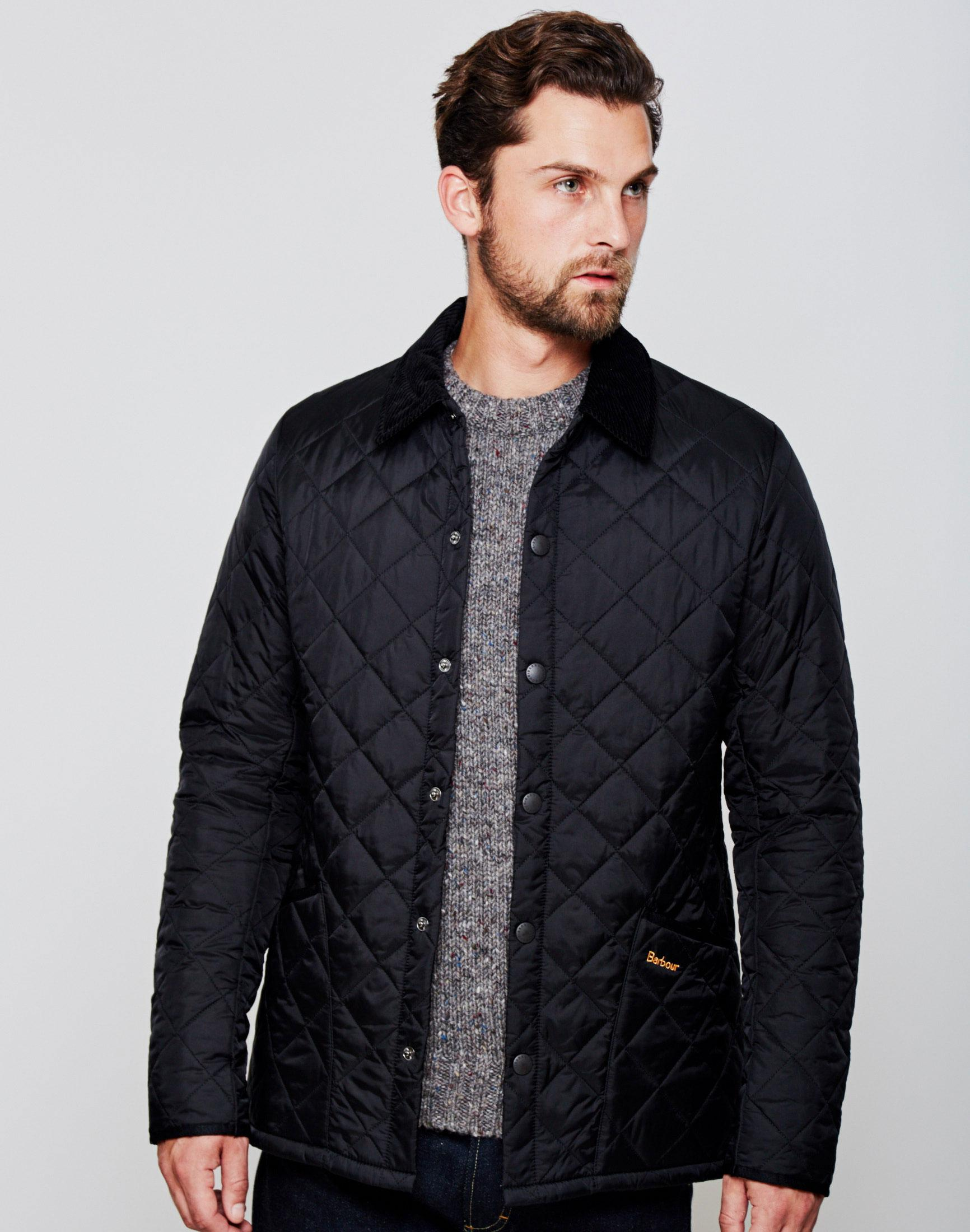 62d45d1a4d8ae Lyst - Barbour Heritage Liddesdale Quilted Jacket Black in Black for Men
