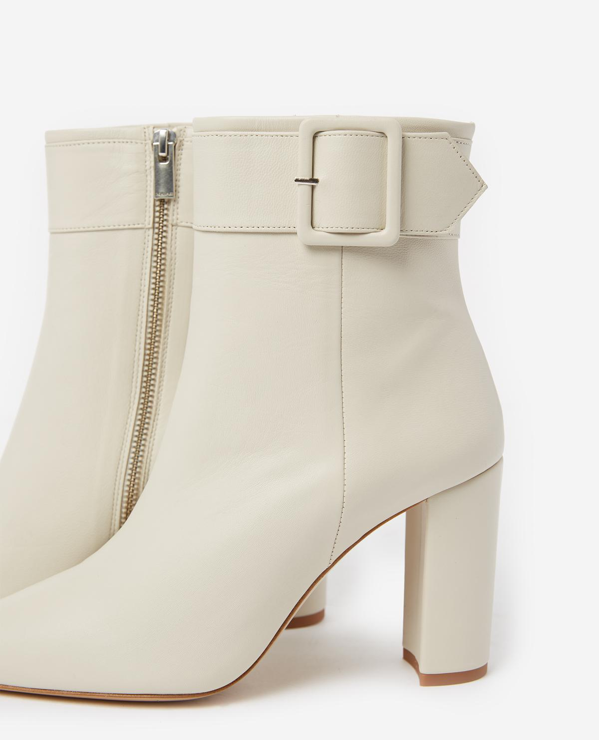 00b7efad69 The Kooples Heeled Ecru Ankle Boots in Natural - Lyst