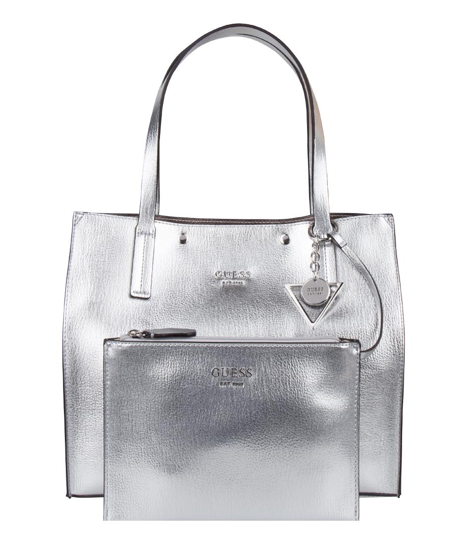 4b75461f195 Lyst - Guess Kinley Carryall in Metallic