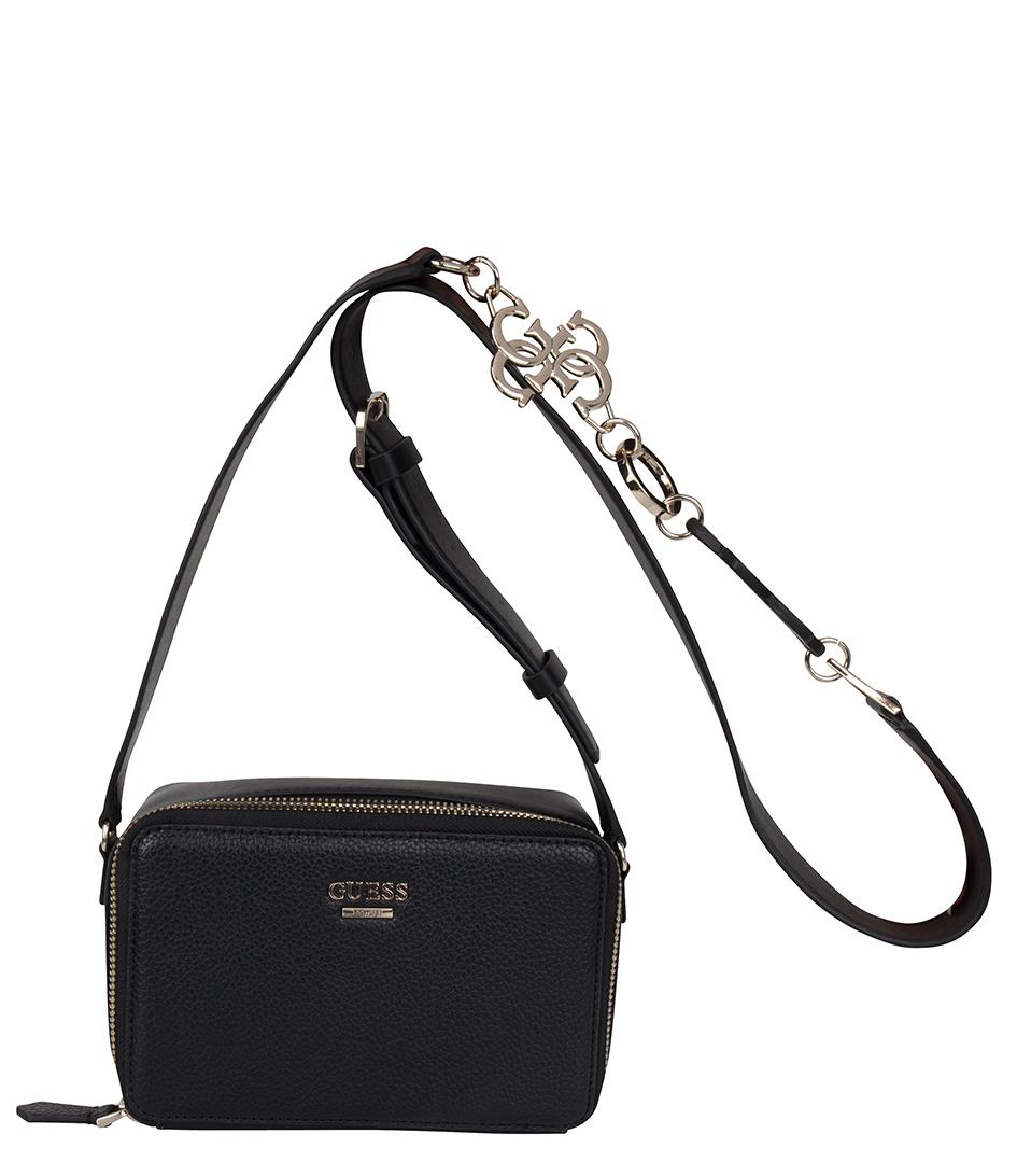 939bf1761d Lyst - Guess Dania Mini Crossbody Top Zip in Black