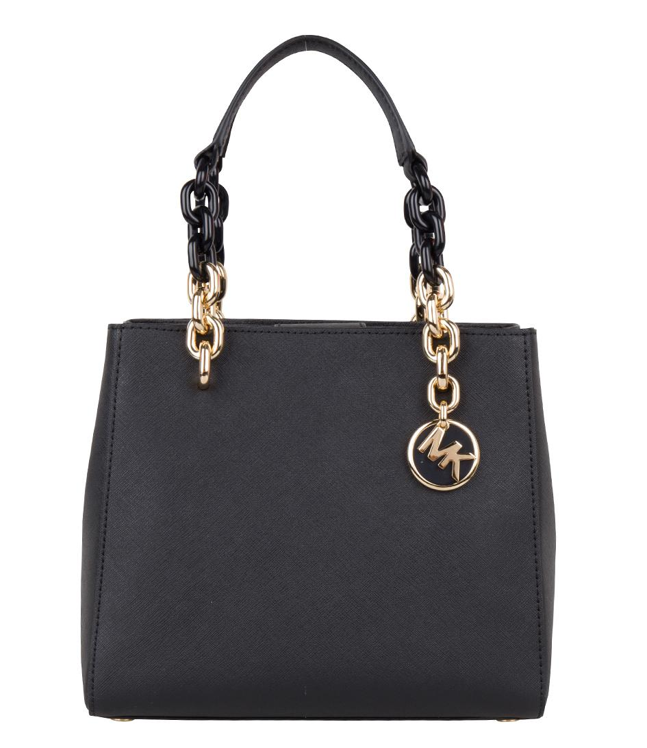 1f26889add78 Lyst - Michael Kors Cynthia Small Ns Convertible Satchel in Black