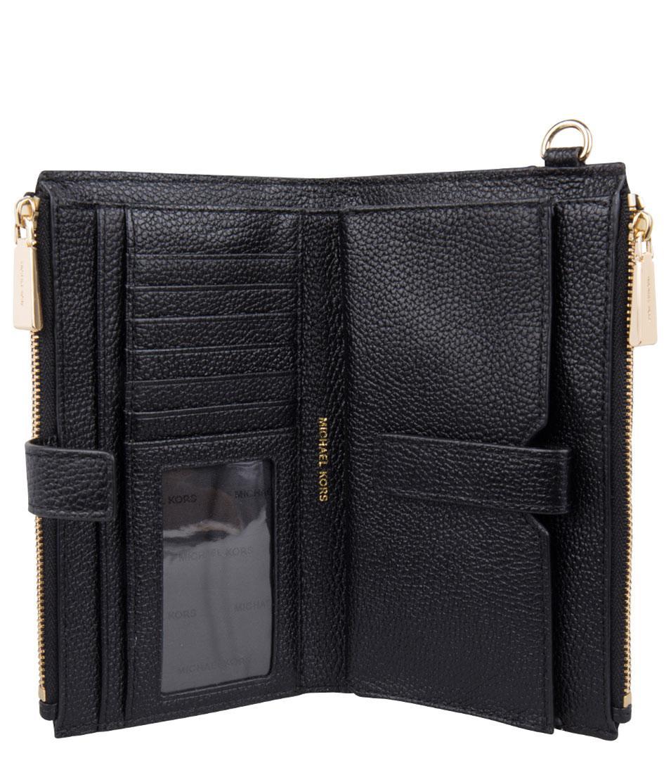 138933b4cf912 Michael Kors - Black Adele Double Zip Wristlet - Lyst. View fullscreen