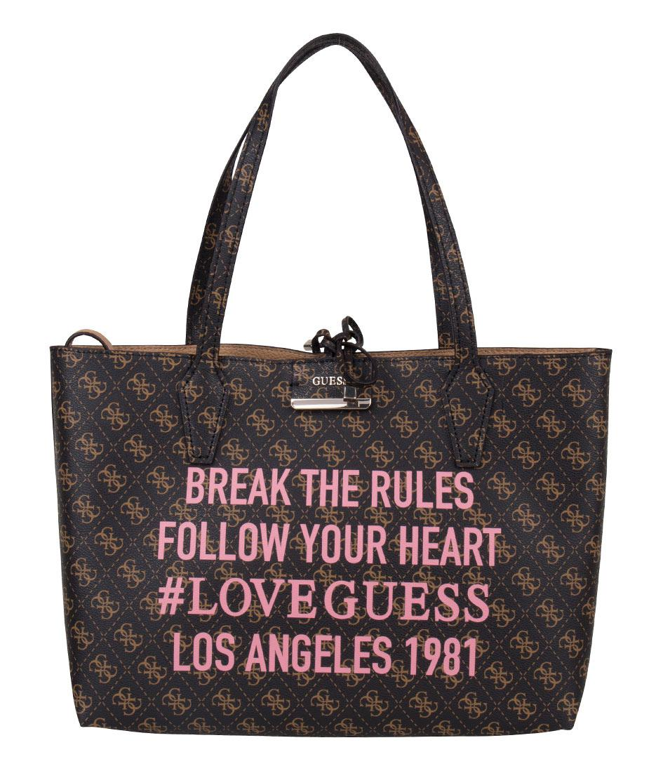 365073ad063d Guess - Brown Bobbi Inside Out Tote - Lyst. View fullscreen