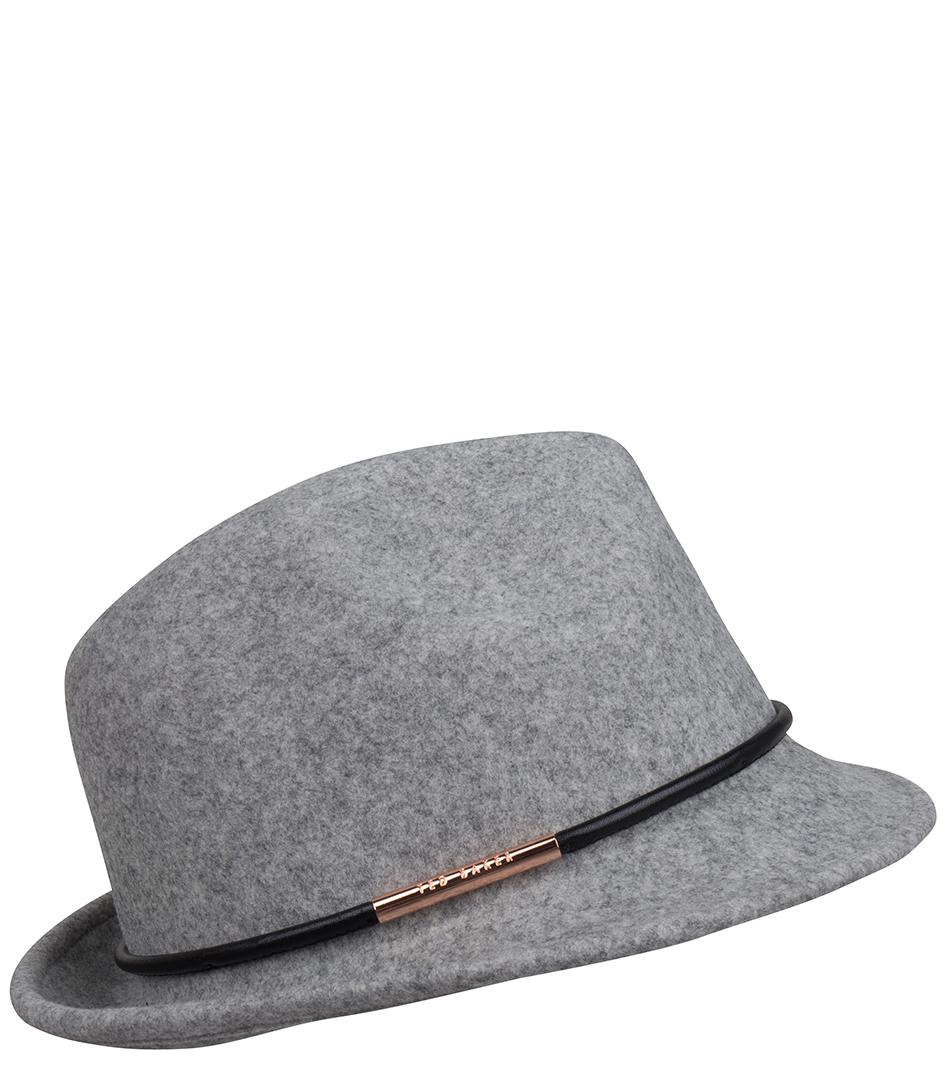 Lyst - Ted Baker Pamela Trilby Hat in Gray 35cdc5d23bc8