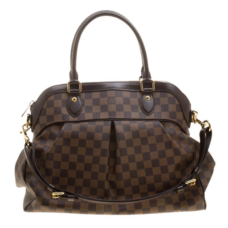Louis Vuitton Damier Ebene Canvas Trevi Gm Bag in Brown - Lyst 4d9def6b7813a