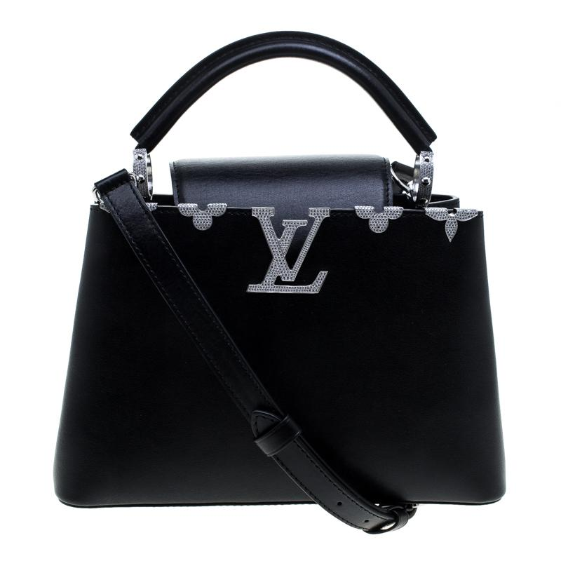 9a3f86b33be Louis Vuitton Taurillon Leather Capucines Bb Bag in Black - Lyst