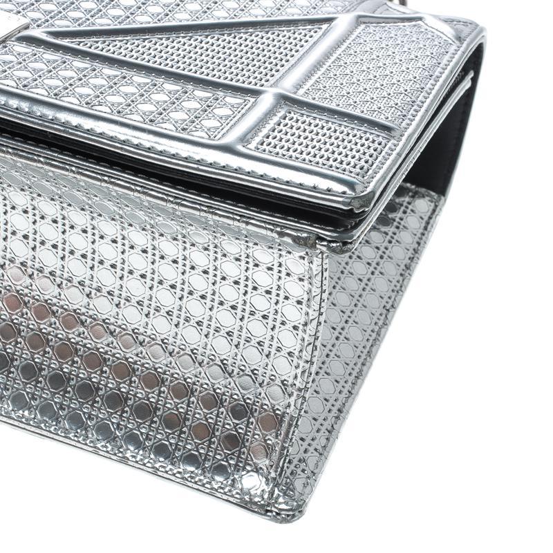 fe0a93b62db Dior Ama Silver Patent Leather Handbag in Metallic - Lyst