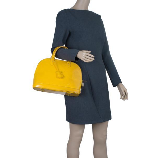 2dba44809e81 Louis Vuitton - Yellow Vernis Monogram Alma Pm - Lyst. View fullscreen
