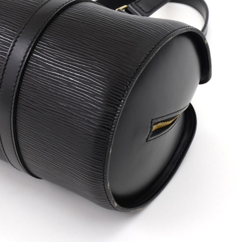 77c629f394c Louis Vuitton - Black Noir Epi Leather Soufflot Bag - Lyst. View fullscreen