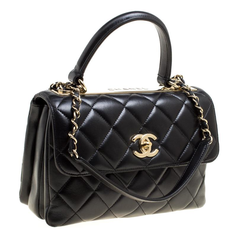 955b35d549e7 Chanel Quilted Leather Small Trendy Cc Flap Shoulder Bag in Black - Lyst