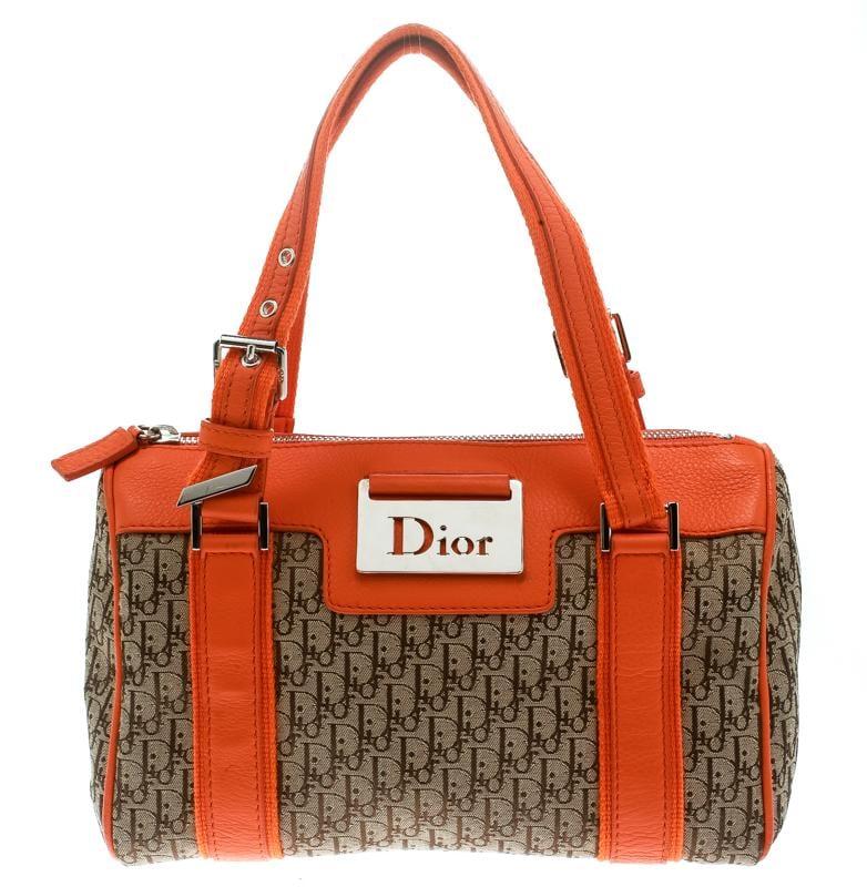 72d715dd6dfa Dior  beige Issimo Canvas Small Boston Bag in Orange - Lyst