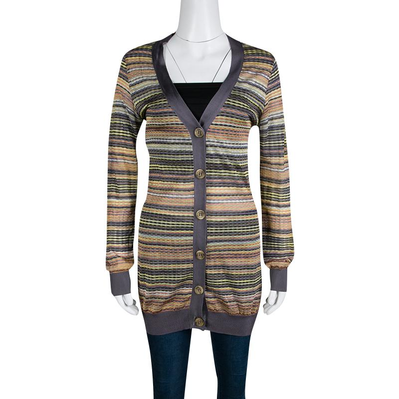 88bfd937fa Lyst - M Missoni Multicolor Patterned Knit Contrast Ribbed Trim ...