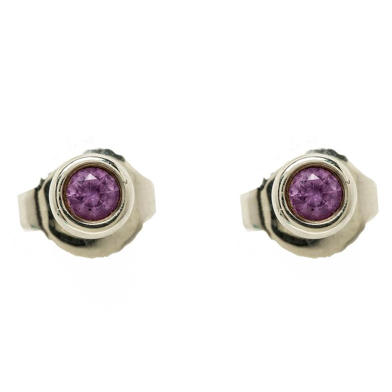 Tiffany Co Women S Metallic Elsa Peretti Color By The Yard Pink Shire Stud Earrings