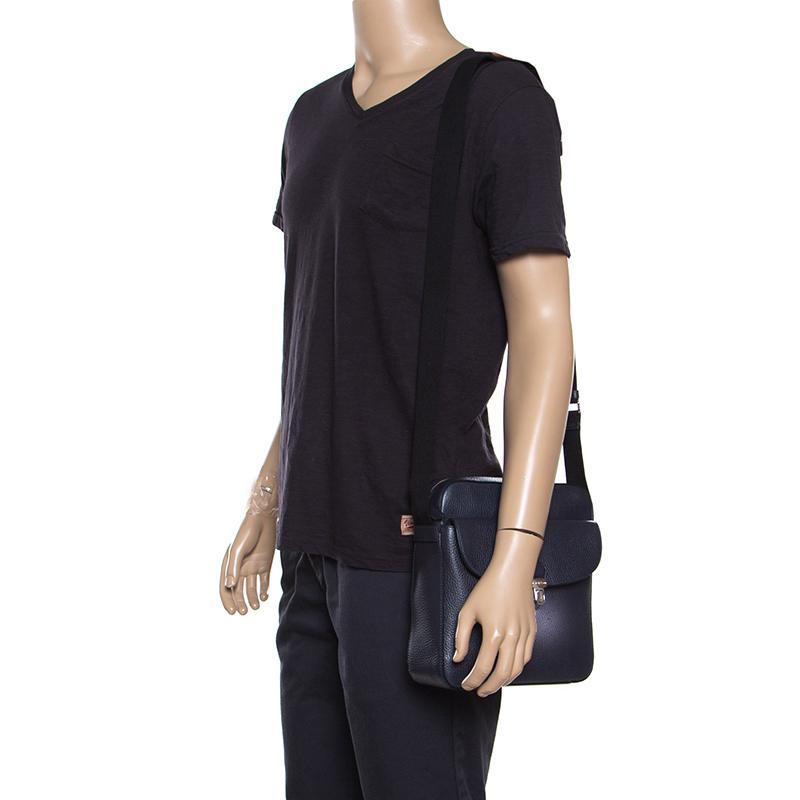 Tod s - Blue Leather Reporter Messenger Bag for Men - Lyst. View fullscreen dd1cd5ee32501