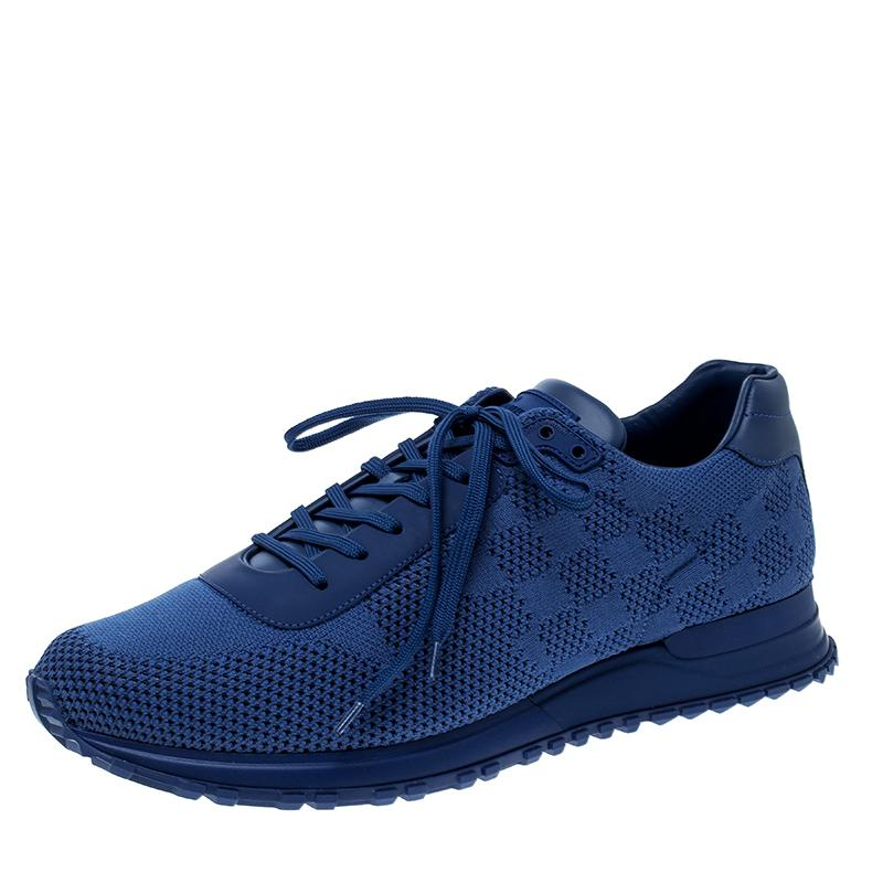 306016f26eb6 Louis Vuitton Damier Mesh Run Away Lace Up Sneakers in Blue for Men ...