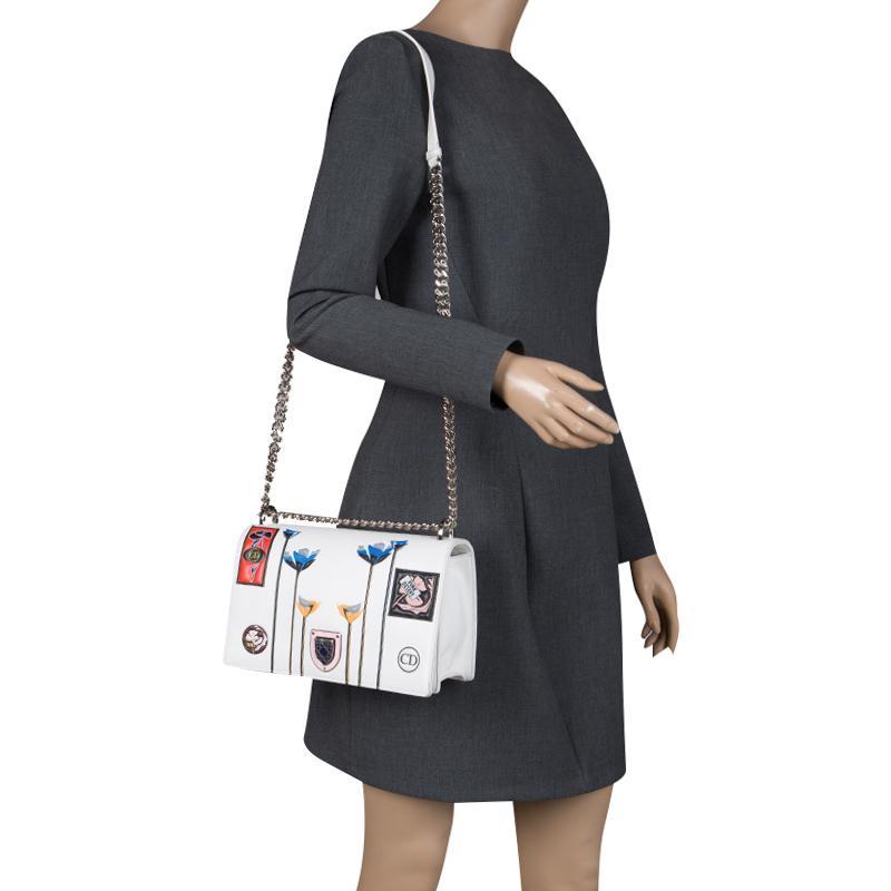 1d0b5dfa2049 Dior - White Leather Medium Paradise Ama Shoulder Bag - Lyst. View  fullscreen