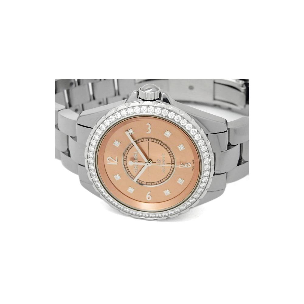 cce49e46b5b Chanel - Pink Ceramic And Titanium Diamond J12 Men s Wristwatch 38mm for Men  - Lyst. View fullscreen
