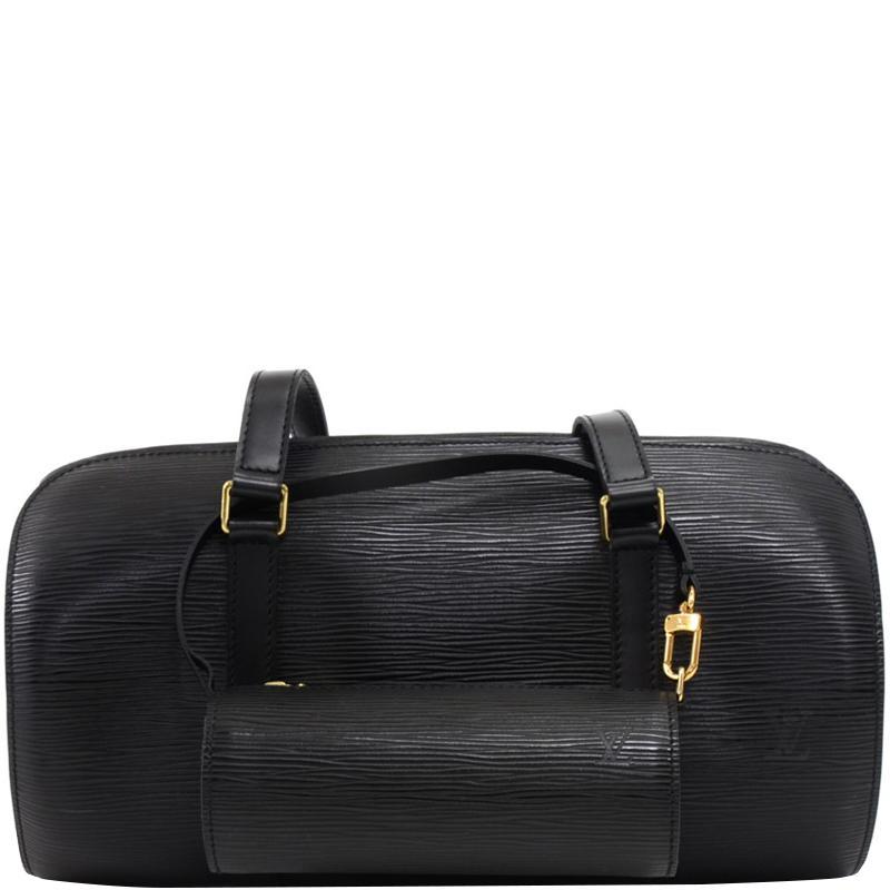 f793442fe02 Lyst - Louis Vuitton Noir Epi Leather Soufflot Bag in Black