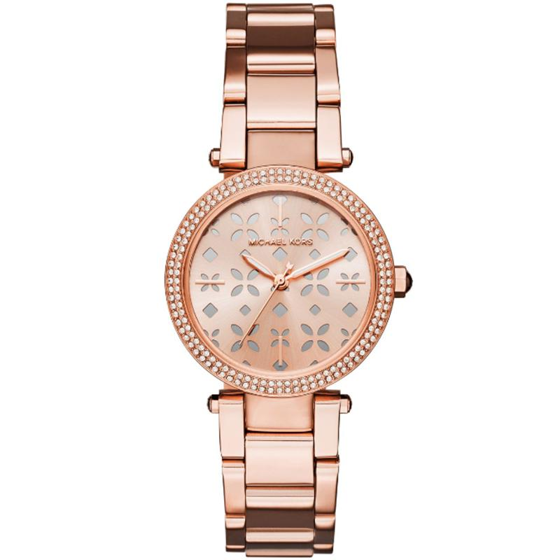 1e008a5879ba Michael Kors. Metallic Rose Plated Steel Mini Parker Mk6470 Women s  Wristwatch 30mm