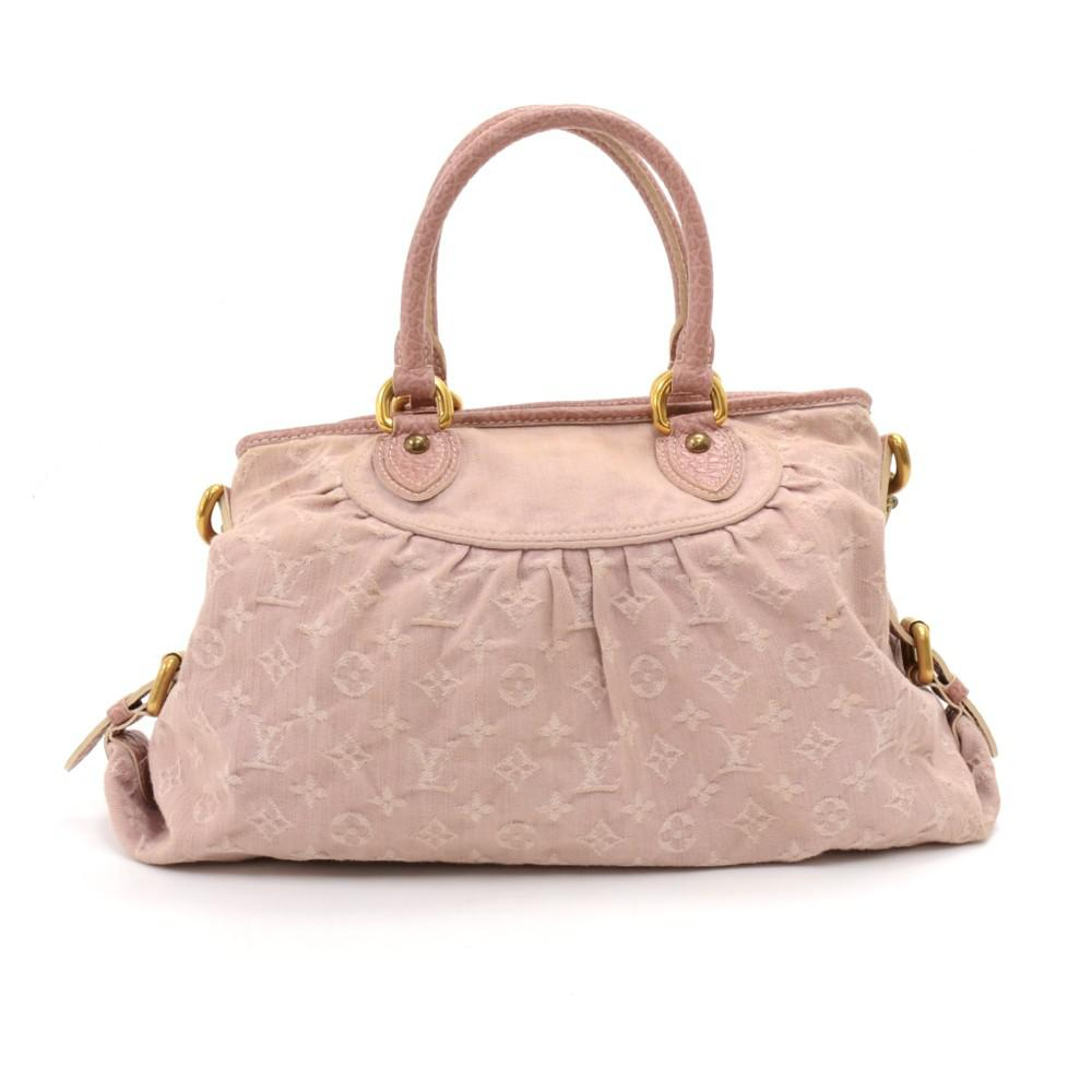 a920a28e4aa9d Lyst - Louis Vuitton Rose Monogram Denim Neo Cabby Mm Bag in Pink
