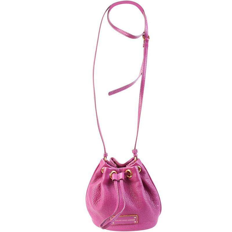 c0f3cf47a58c Lyst - Marc By Marc Jacobs Purple Leather Mini Sling Hobo Bag in Pink