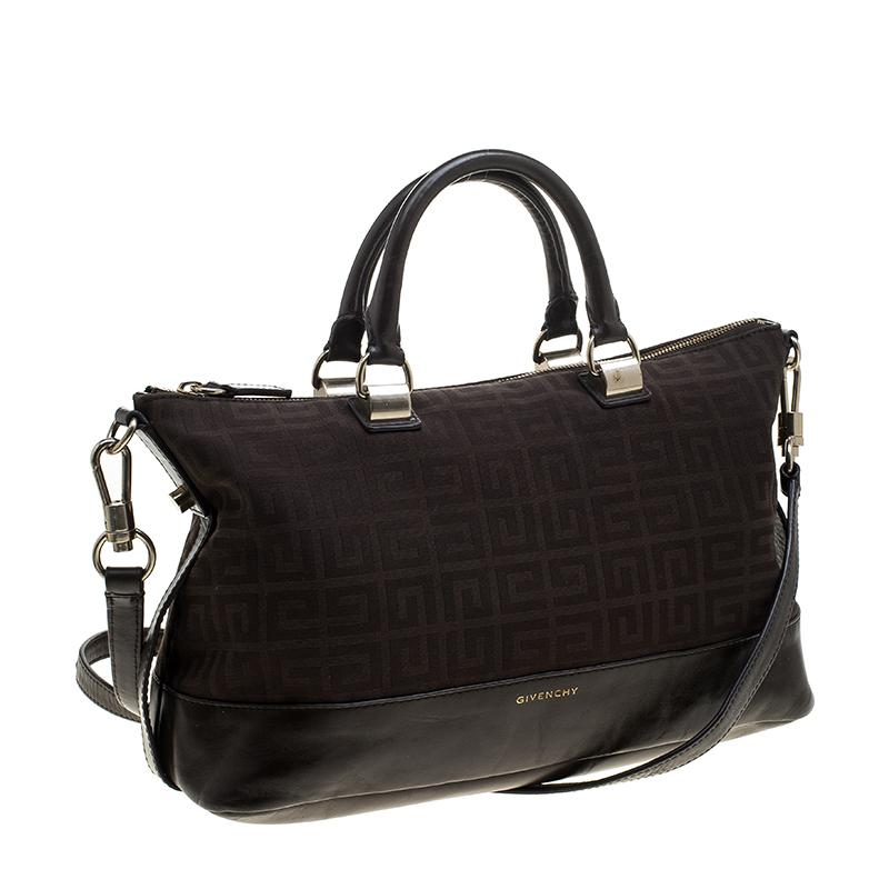 d48272c1891d Lyst - Givenchy Signature Canvas And Leather Convertible Tote in Brown