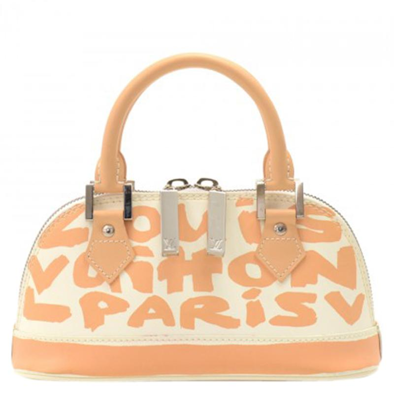 fd5d7a58c6c Louis Vuitton. Women s Natural Glazed Leather Limited Edition Alma Graffiti  Horizontal Bag