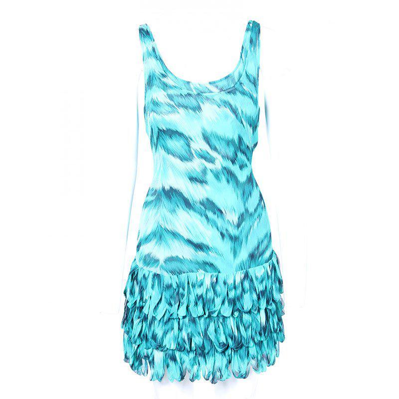 891680ddaf ... Blue Turquoise Tiger Print Sleeveless Dress M - Lyst. View fullscreen