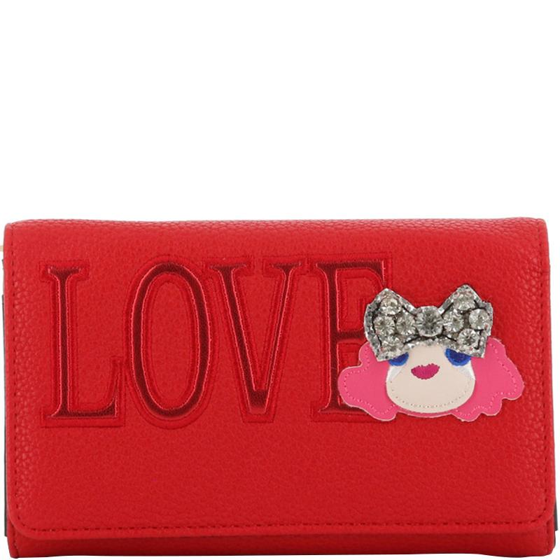 46f23978e30 Moschino Love Red Faux Leather Woc Clutch Bag in Red - Lyst