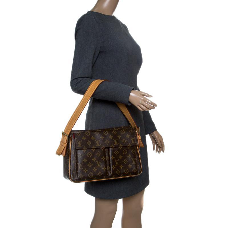 5eed72a877f3 Louis Vuitton - Brown Monogram Canvas Viva Cite Gm Bag - Lyst. View  fullscreen
