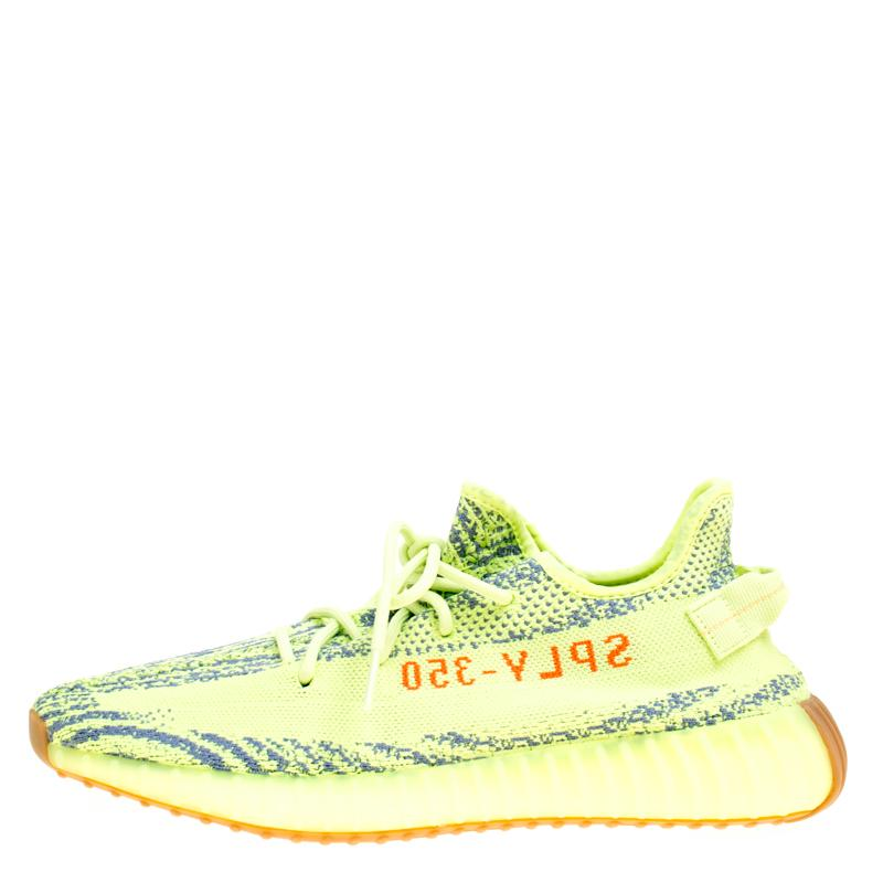 d9f41738c89 Lyst - Yeezy X Adidas Semi Frozen Yellow Cotton Knit Boost 350 V2 ...
