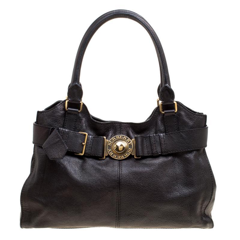 2350ee99a240 Burberry The Belt Black Leather Handbag in Black - Save ...