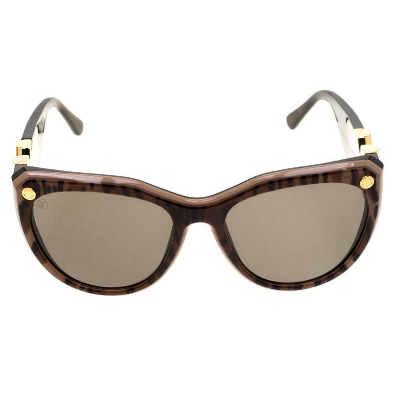 e0472d6e588 Lyst - Louis Vuitton Leopard Print  Z1113w My Fair Lady Sunglasses ...