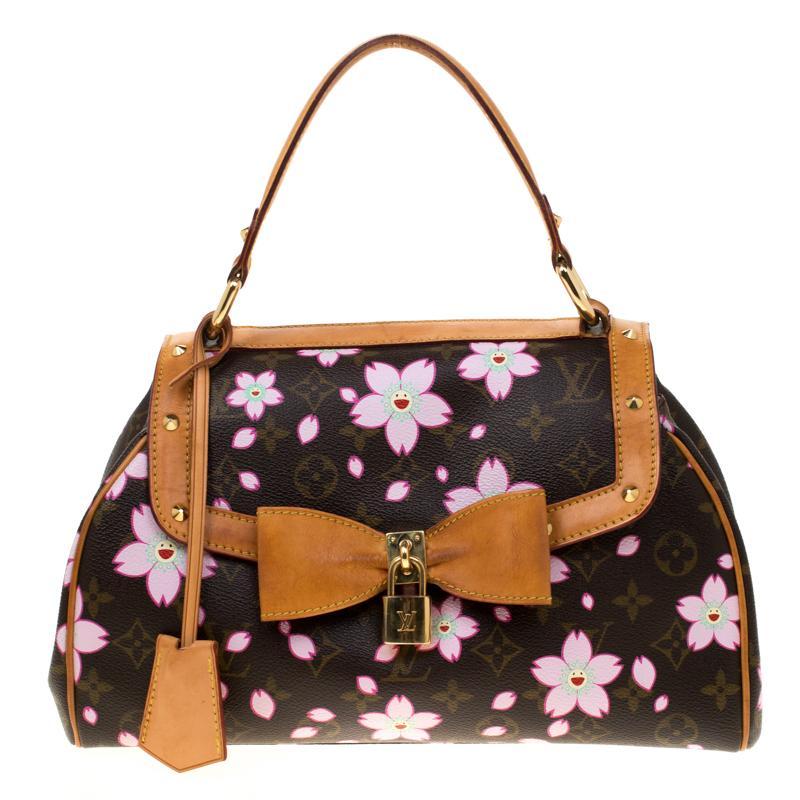 2acf8bd4c7f0 Louis Vuitton. Women s Brown Monogram Canvas Limited Edition Cherry Blossom  Sac Retro Pm Bag