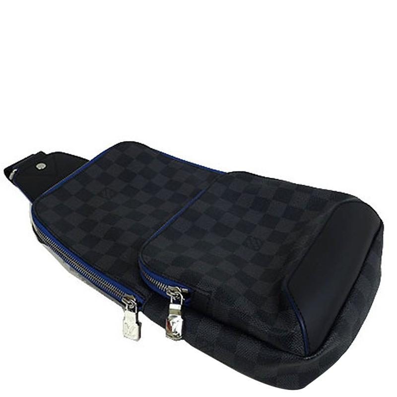 4484c0ec9 Louis Vuitton Damier Graphite Canvas Avenue Sling Bag in Blue for ...