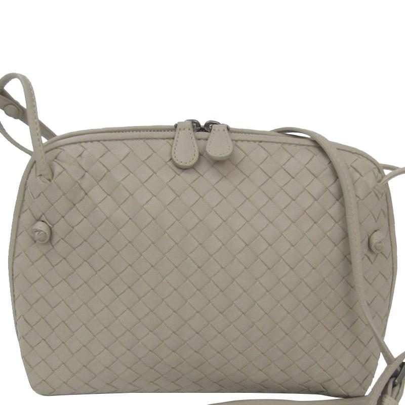 7ca2c0d683ce Bottega Veneta Intrecciato Leather Shoulder Bag in Gray - Lyst