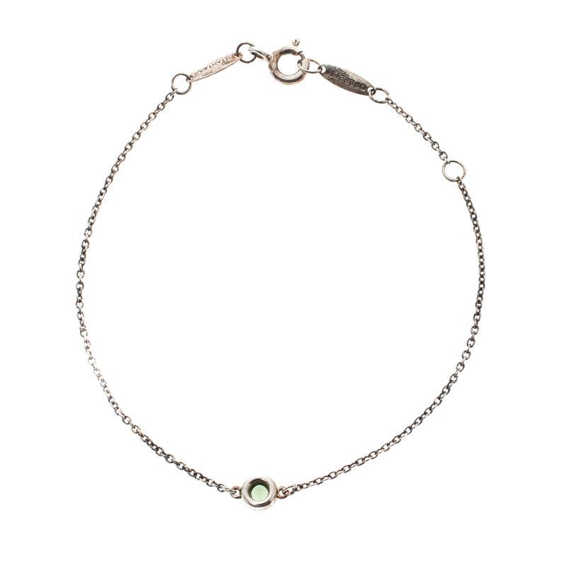 3eae04660 Tiffany & Co. Elsa Peretti Color By The Yard Tsavorite Garnet Silver ...