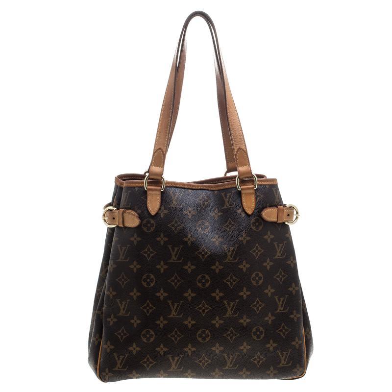 5294069aa026 Lyst - Louis Vuitton Monogram Canvas Batignolles Vertical Bag in Brown