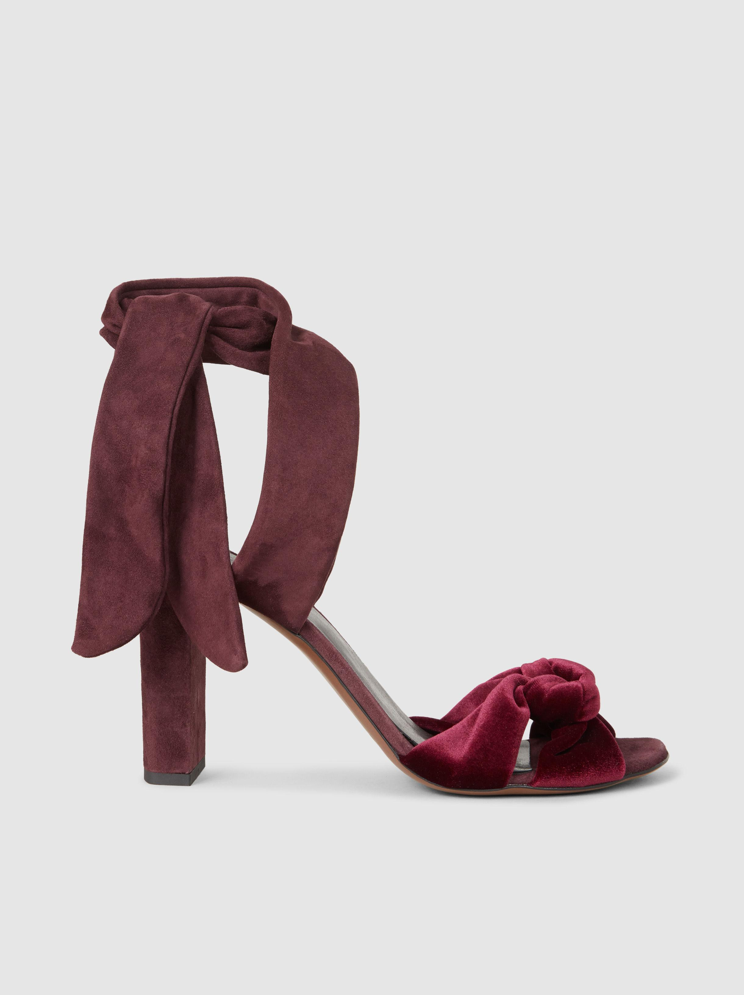 Neous Amesiella Velvet and Suede Sandals Outlet Official Site rDkXwhvrYj