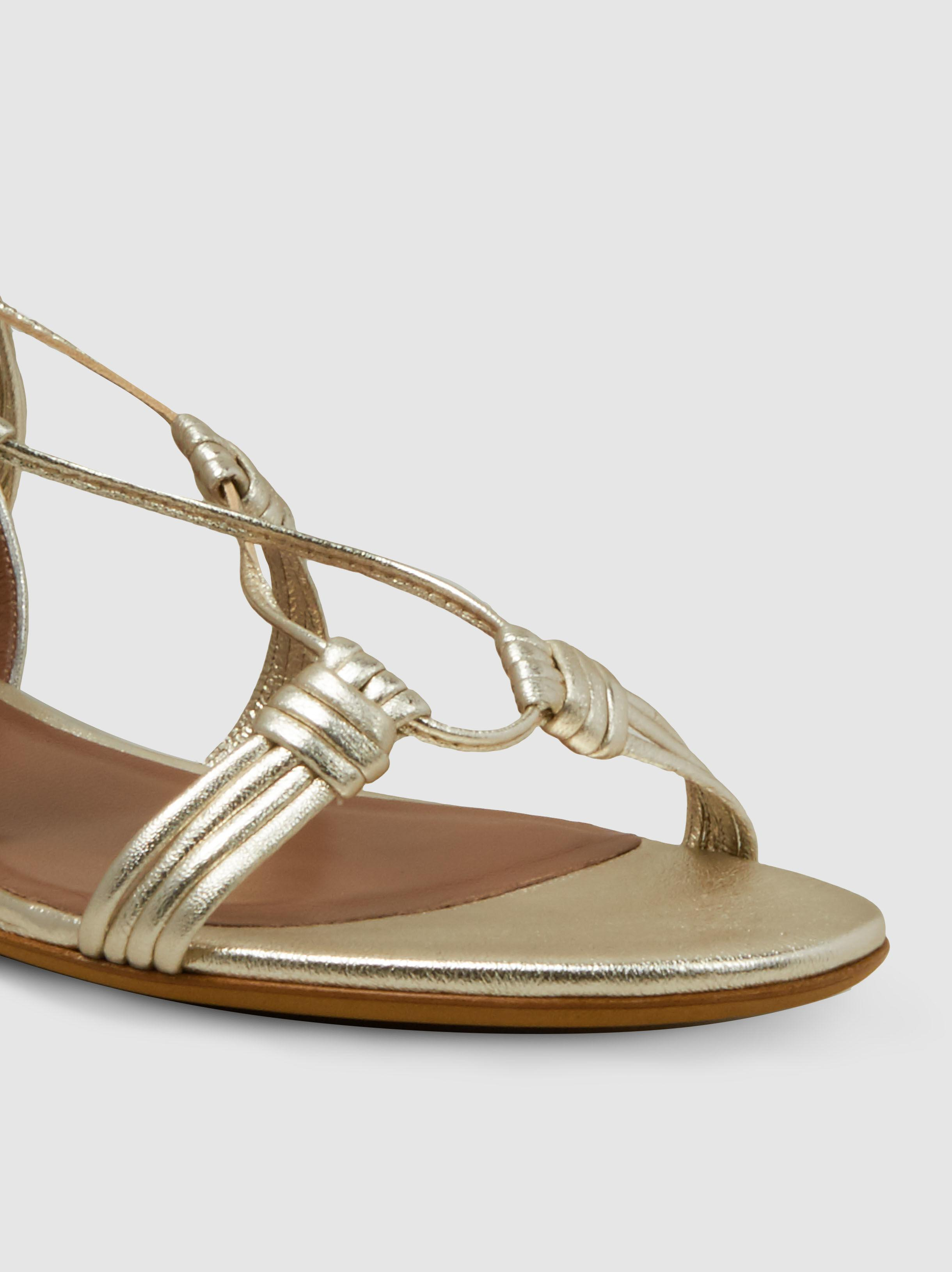 Tabitha Simmons Jax Tasselled Metallic-Leather Sandals VxGTbmPua