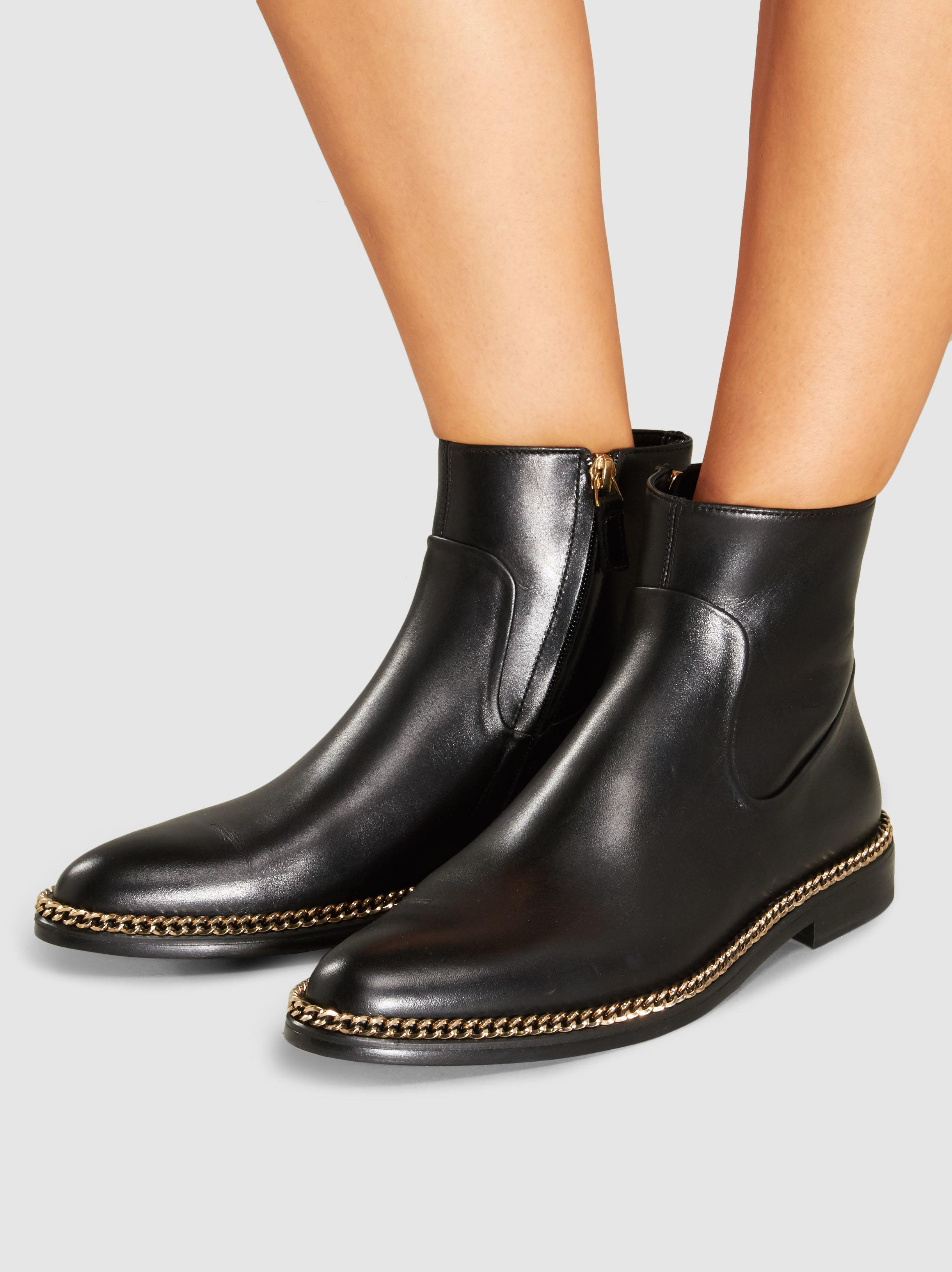 Lanvin Leather Chain-Link Ankle Boots shop cheap online sale 100% authentic buy cheap the cheapest RakvCEvG6
