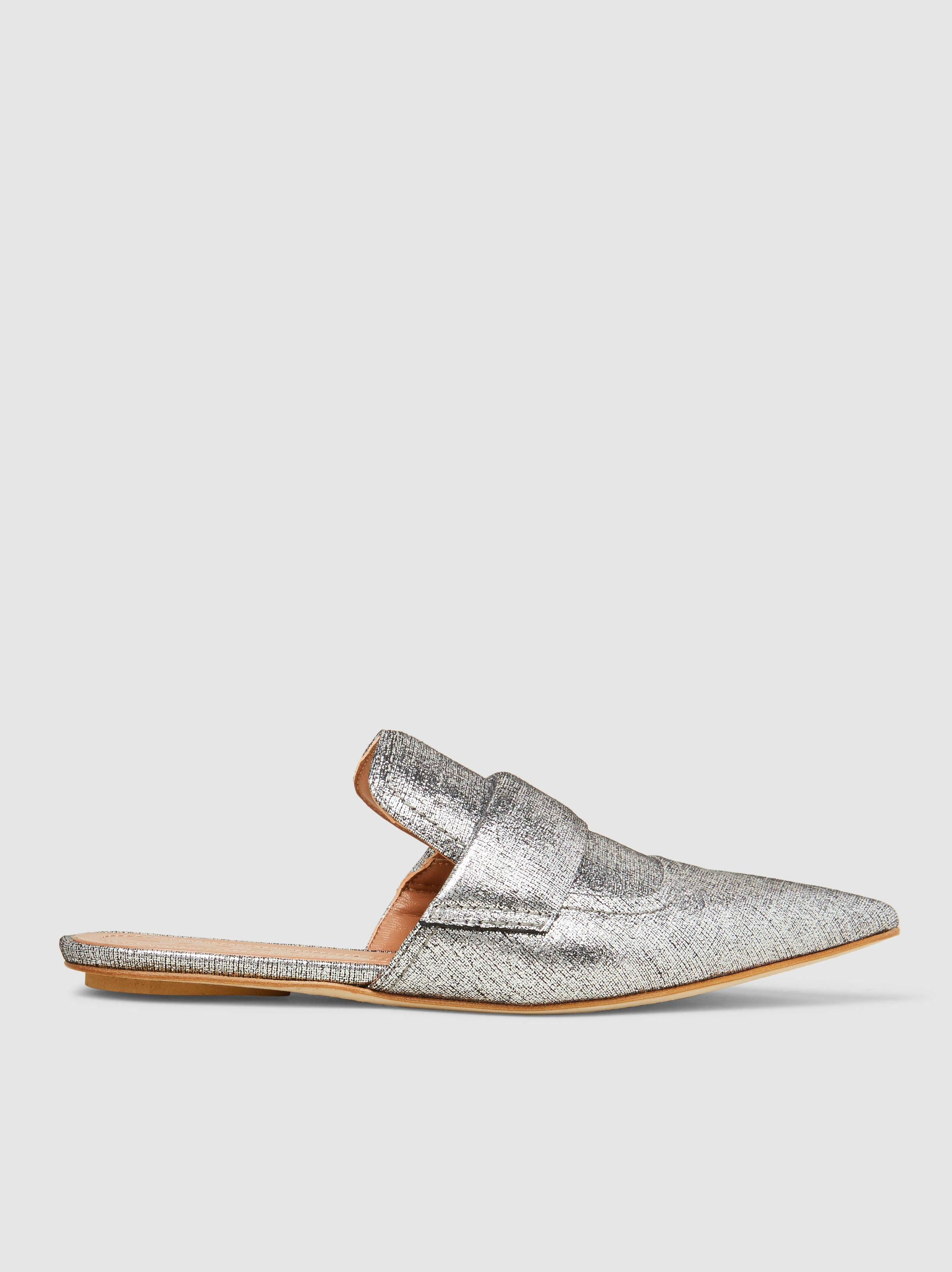Marni Metallic Pointed-Toe Slippers bHG2tXvjU