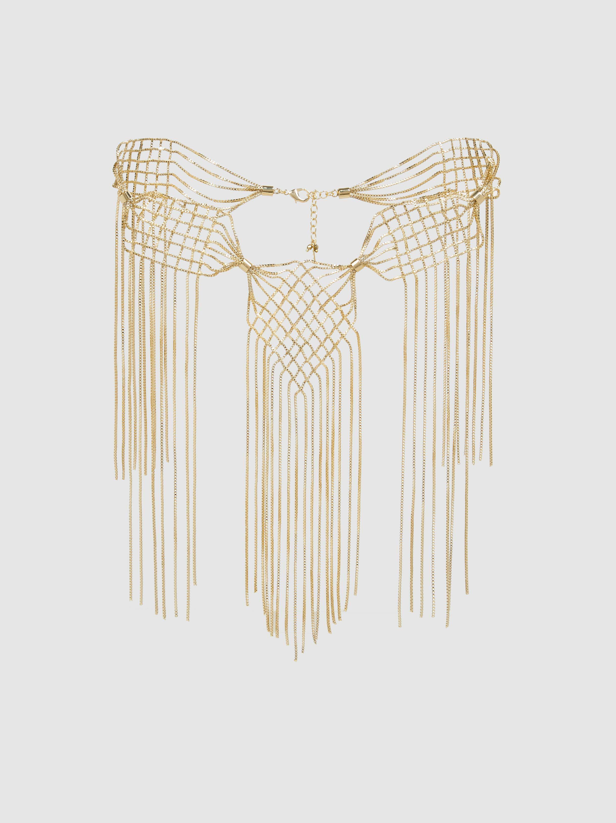 Rosantica Aquilone Fringed Gold-Tone Necklace RLWck3